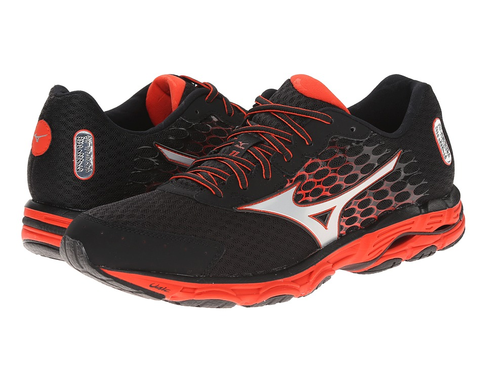 Mizuno - Wave Inspire 11 (Black/Orange.com) Men