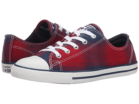 Converse - Chuck Taylor All Star Dainty Plaid Ox (Chili Paste/Nighttime Navy/White) Women's Lace up casual Shoes