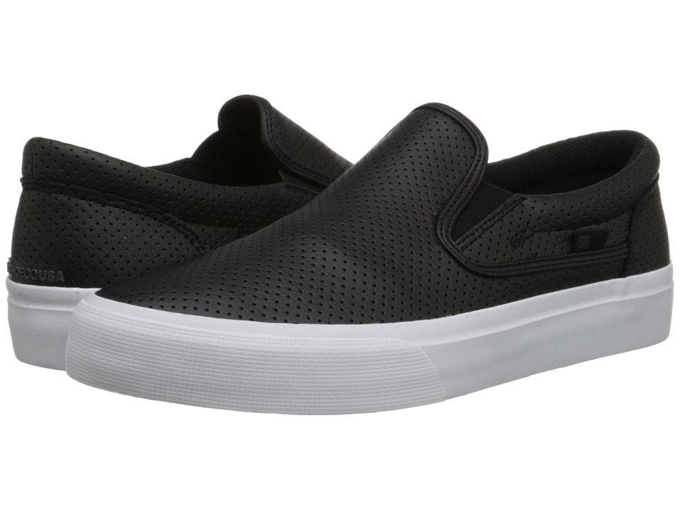 DC - Trase Slip-On LE (Black/White) Skate Shoes