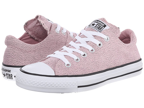 Converse - Chuck Taylor All Star Madison Heathered Canvas Ox (Pink Freeze/Black/White) Women