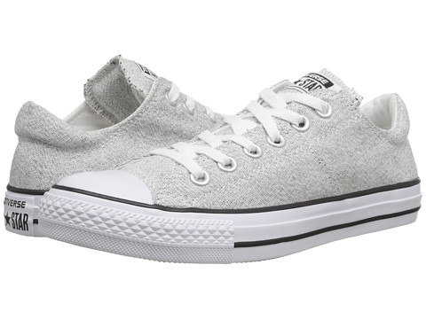 Converse - Chuck Taylor All Star Madison Heathered Canvas Ox (White/Black/White) Women's Lace up casual Shoes