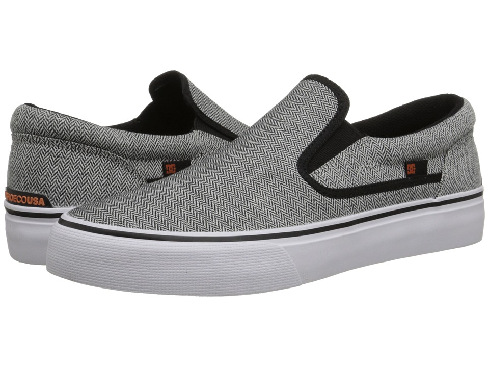 DC - Trase Slip-On TX SE (Grey/Black/White) Skate Shoes