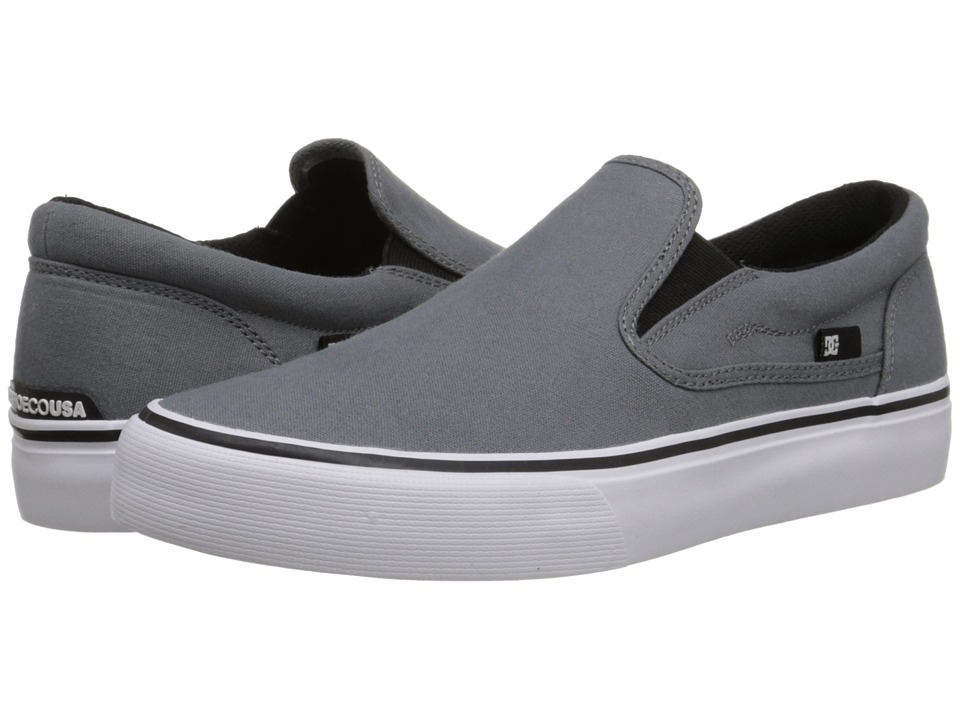DC - Trase Slip-On TX (Grey) Skate Shoes