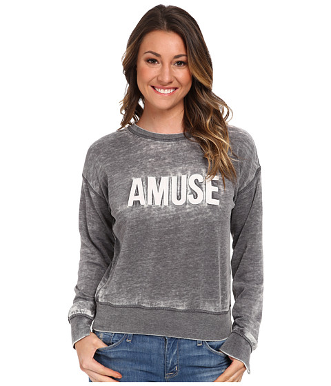 Amuse Society - Iconic Fleece (Charcoal) Women's Fleece