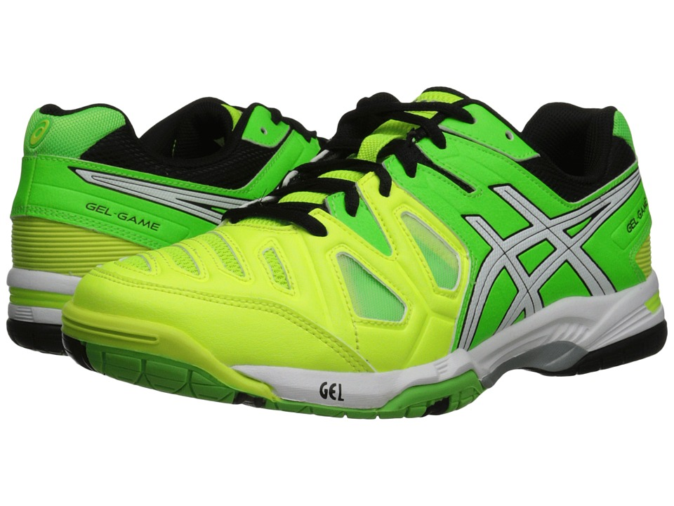 ASICS - Gel-Game 5 (Flash Yellow/White/Flash Green) Men's Tennis Shoes