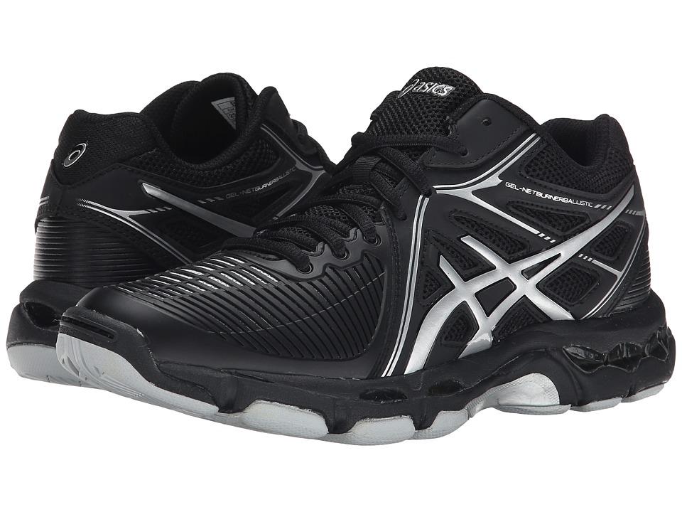 ASICS - GEL-Netburner Ballistic MT (Black/Silver) Women's Volleyball Shoes