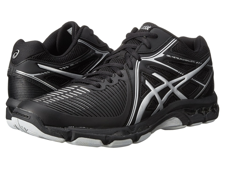 ASICS - GEL-Netburner Ballistic MT (Black/Silver) Men's Volleyball Shoes