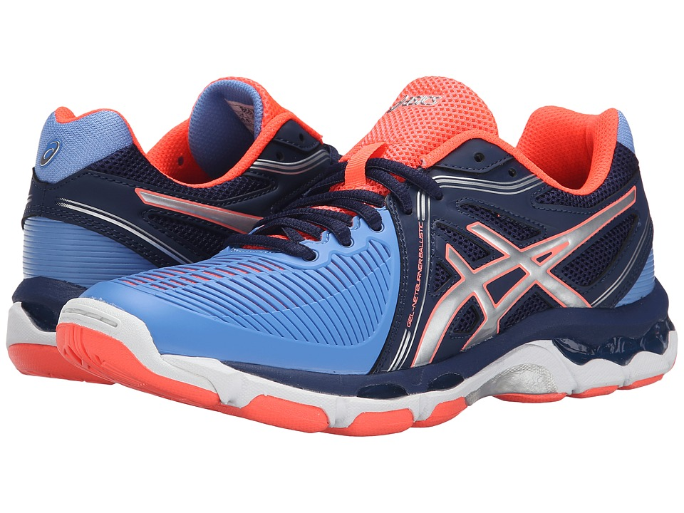ASICS - GEL-Netburner Ballistictm (Columbia Blue/Silver/Navy) Women's Volleyball Shoes