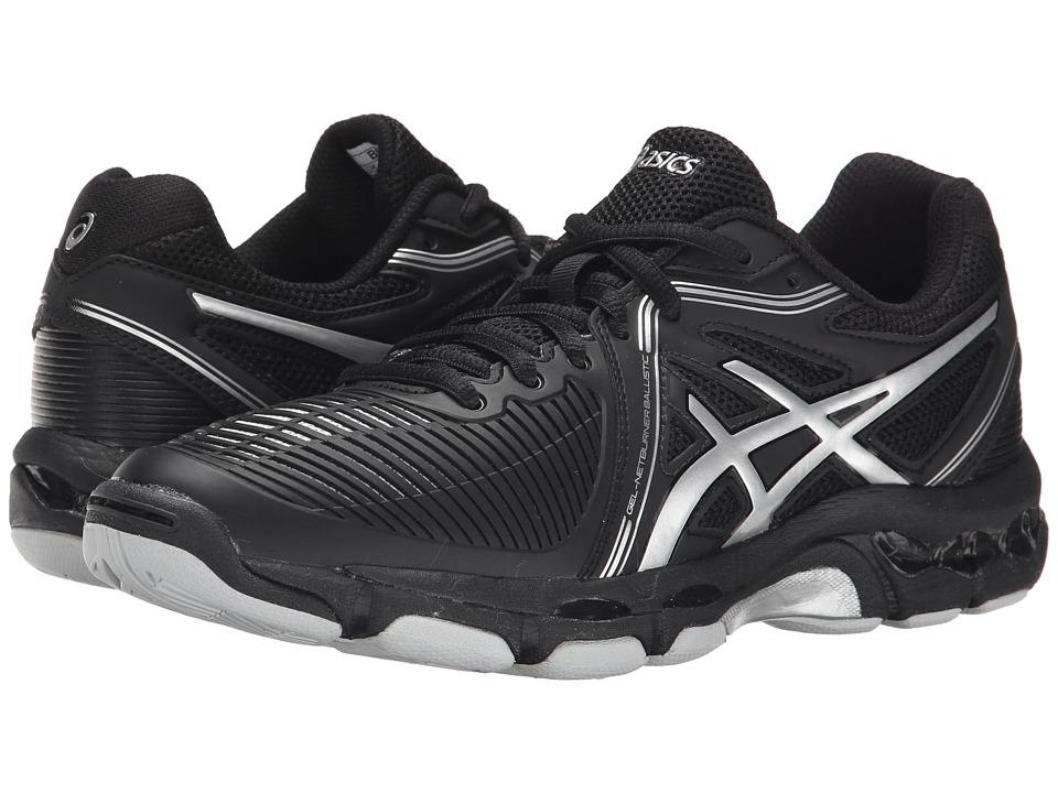 ASICS - GEL-Netburner Ballistic (Black/Silver) Women's Volleyball Shoes