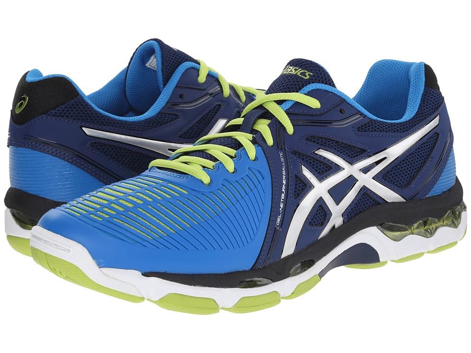ASICS - GEL-Netburner Ballistictm (Navy/Silver/Electric Blue) Men's Volleyball Shoes