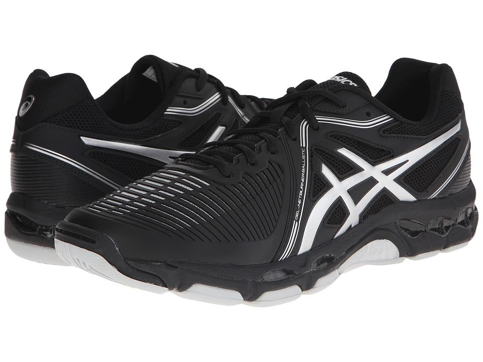 ASICS - GEL-Netburner Ballistic (Black/Silver) Men's Volleyball Shoes