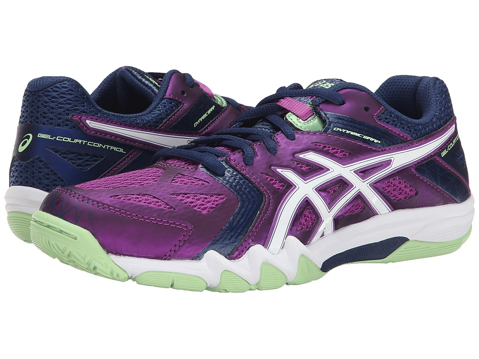 ASICS - GEL-Court Control (Grape/White/Navy) Women's Volleyball Shoes