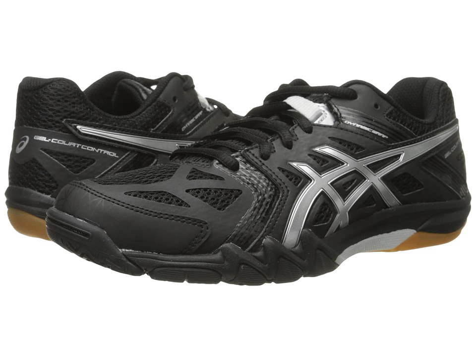 ASICS - GEL-Court Control (Black/Silver) Women's Volleyball Shoes