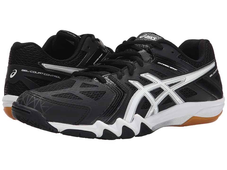 ASICS - GEL-Court Control (Black/White/Graphite) Men's Volleyball Shoes