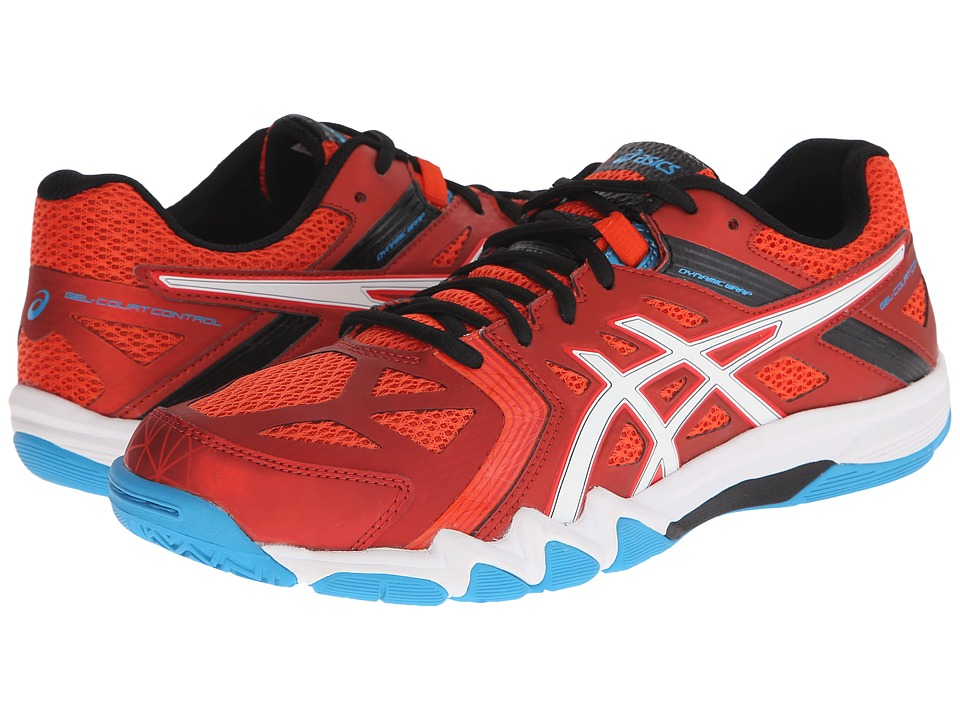 ASICS - GEL-Court Control (Cherry Tomato/White/Turquoise) Men's Volleyball Shoes