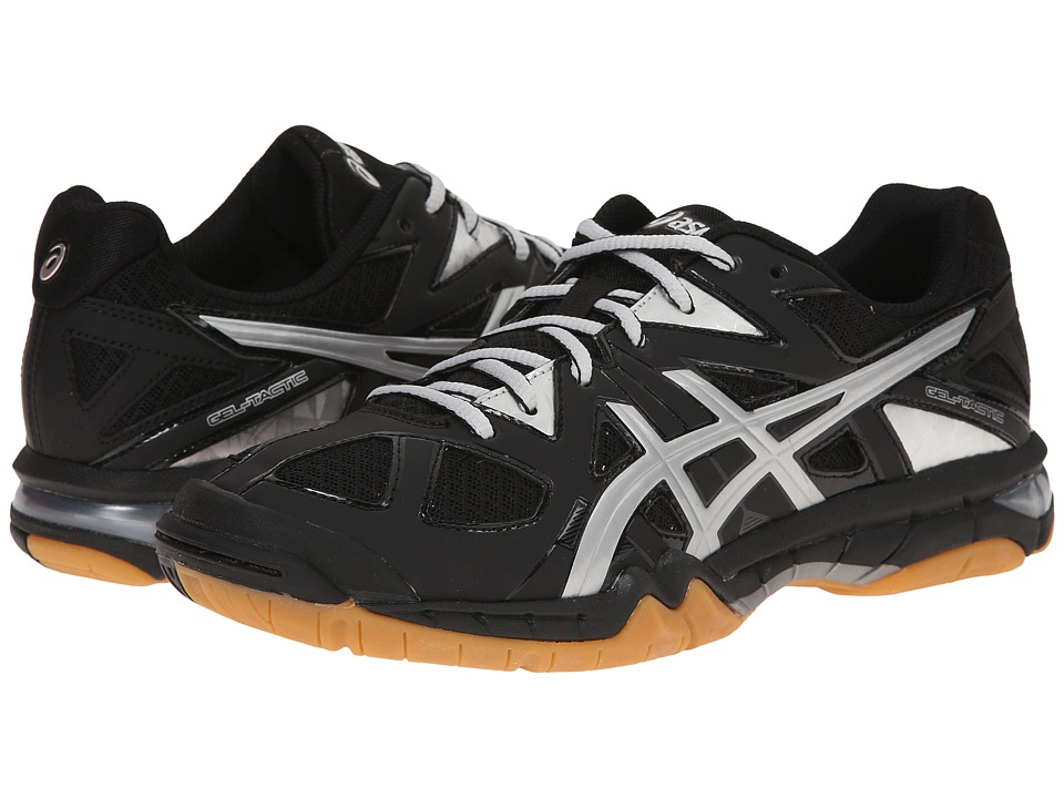 ASICS - GEL-Tactic (Black/Silver) Women's Volleyball Shoes