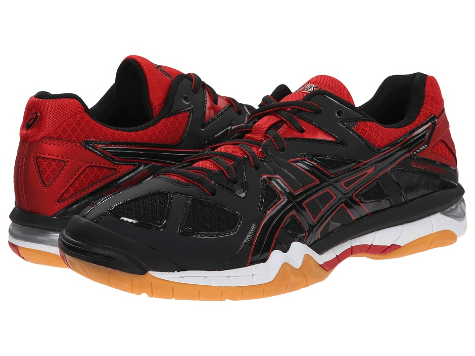 ASICS - GEL-Tactic (Black/Black/Fiery Red) Women's Volleyball Shoes