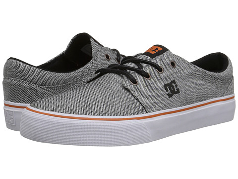 DC - Trase TX SE (Grey/Orange/Grey) Skate Shoes
