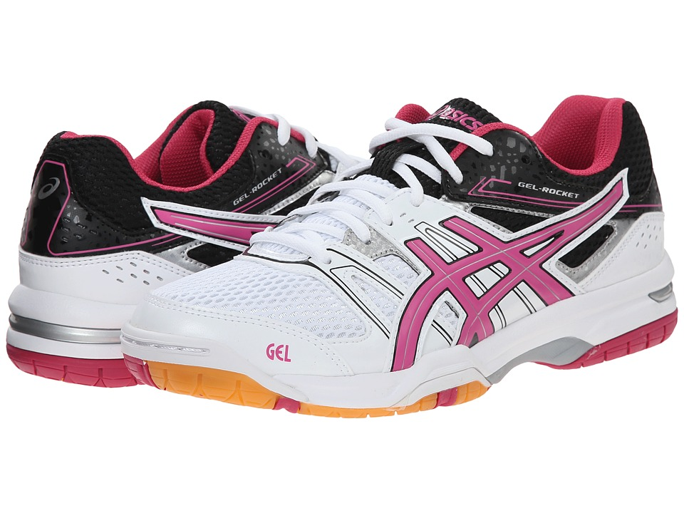 ASICS - GEL-Rocket 7 (White/Magenta/Black) Women
