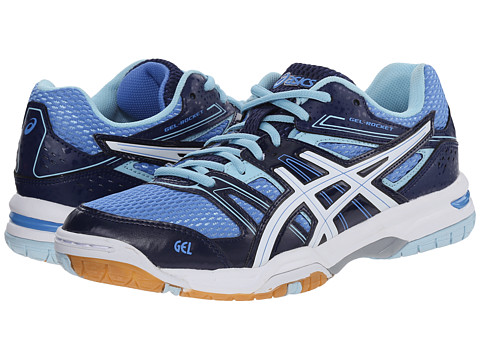 ASICS - GEL-Rocket 7 (Powder Blue/White/Indigo Blue) Women's Shoes