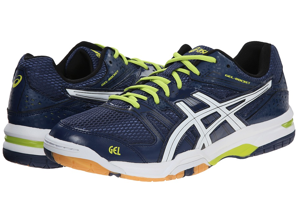 ASICS - GEL-Rocket 7 (Navy/White/Lime) Men