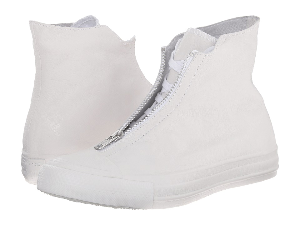 Converse - Chuck Taylor All Star Leather Shroud Hi (White/White/White) Women's Lace up casual Shoes