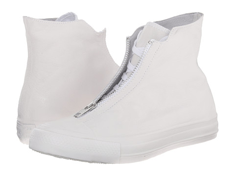 Converse - Chuck Taylor All Star Leather Shroud Hi (White/White/White) Women