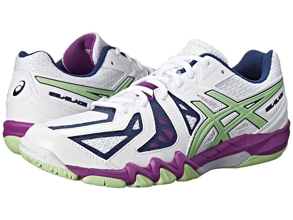 ASICS - GEL-Blade 5 (White/Pistachio/Grape) Women's Shoes