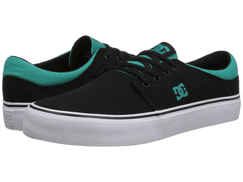 DC - Trase TX (Black/Green) Skate Shoes