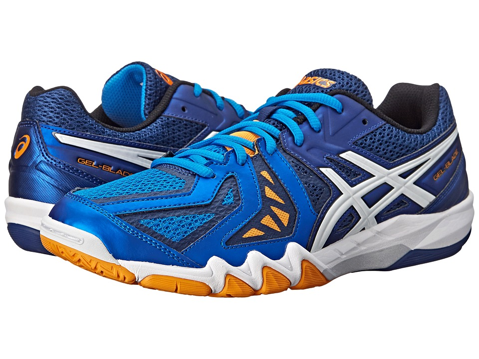 ASICS - GEL-Blade 5 (Electric Blue/White/Navy) Men's Shoes