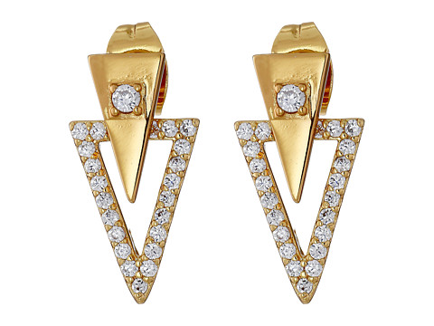 gorjana - Shimmer Triangle Double Stud Earrings (Gold) Earring