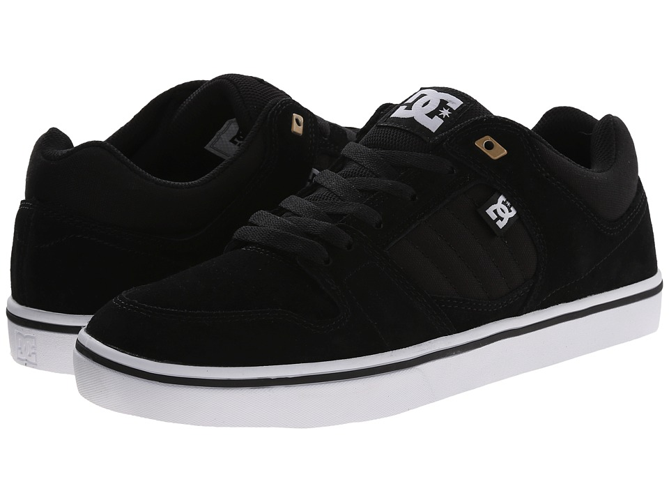 DC - Course 2 (Black/White/Gold) Men's Skate Shoes