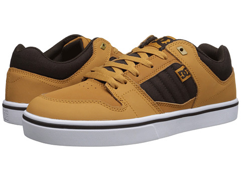 DC - Course 2 (Wheat/Dark Chocolate) Men's Skate Shoes
