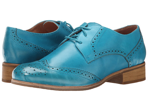 Miz Mooz - Brigitta (Blue) Women's Dress Flat Shoes