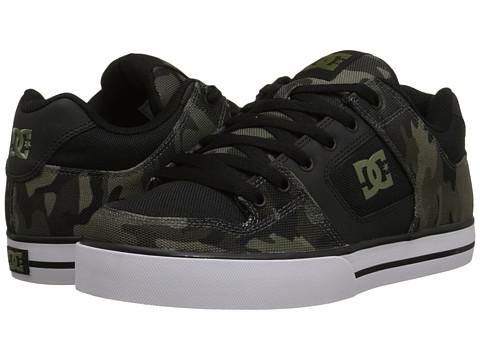 DC - Pure SP (Black/Camo Print) Men's Skate Shoes