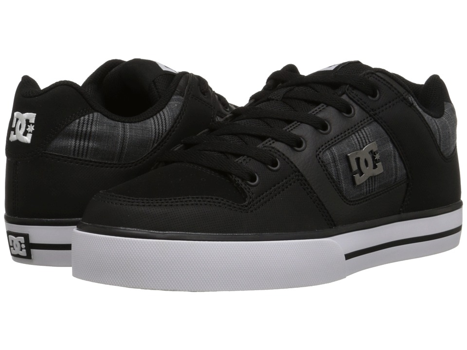DC - Pure SE (Black) Men's Skate Shoes