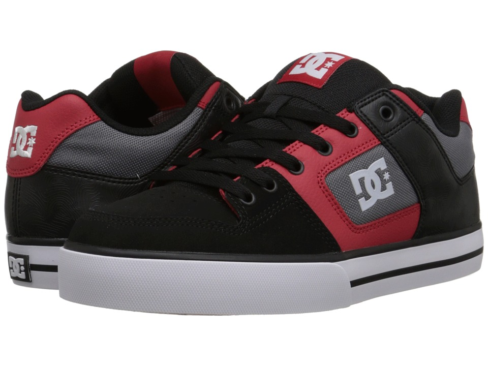 DC - Pure (Black/Athletic Red) Men's Skate Shoes