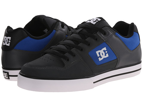 DC - Pure (Grey/Royal) Men's Skate Shoes