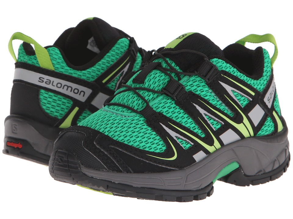 Salomon Kids - Xa Pro 3D (Toddler/Little Kid) (Real Green/Black/Granny Green) Kids Shoes