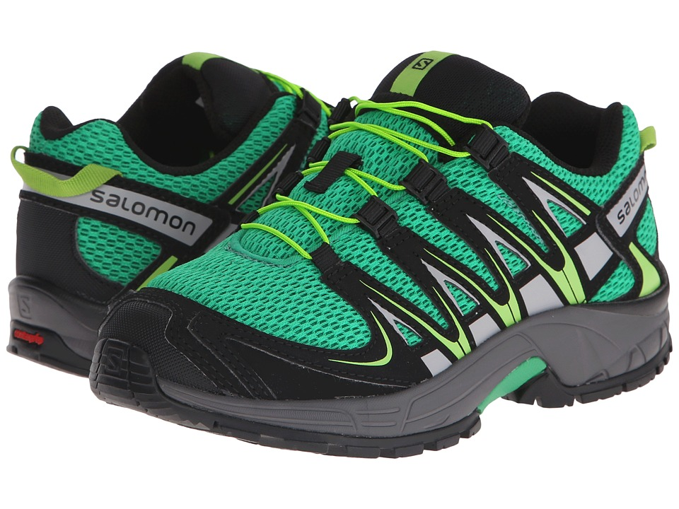 Salomon Kids - Xa Pro 3D (Little Kid/Big Kid) (Real Green/Black/Granny Green) Kids Shoes