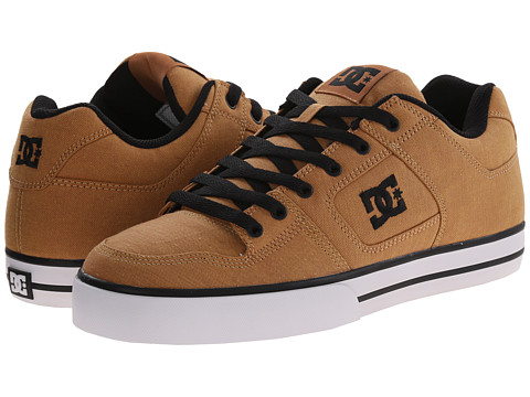 DC - Pure TX SE (Tan) Men's Skate Shoes