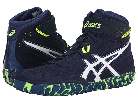 ASICS - Aggressor 2 (Estate Blue/White/Flash Yellow) Men