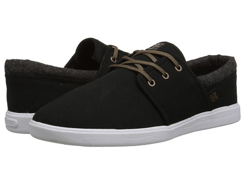 DC - Haven (Black/Grey) Men's Skate Shoes