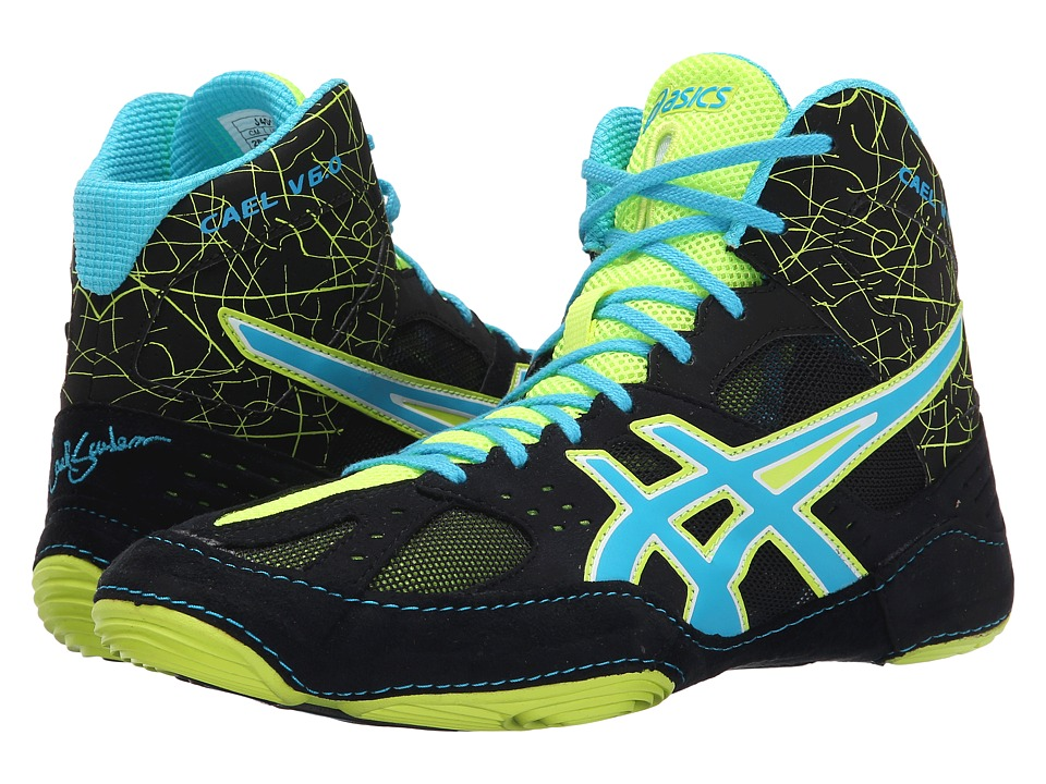 ASICS Cael V6.0 (Black/Atomic Blue/Flash Yellow) Men