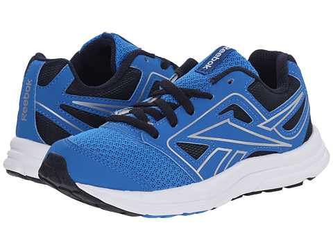 Reebok Kids - Zone Cushrun (Little Kid/Big Kid) (Cycle Blue/Faux Indigo/White/Silver) Boys Shoes