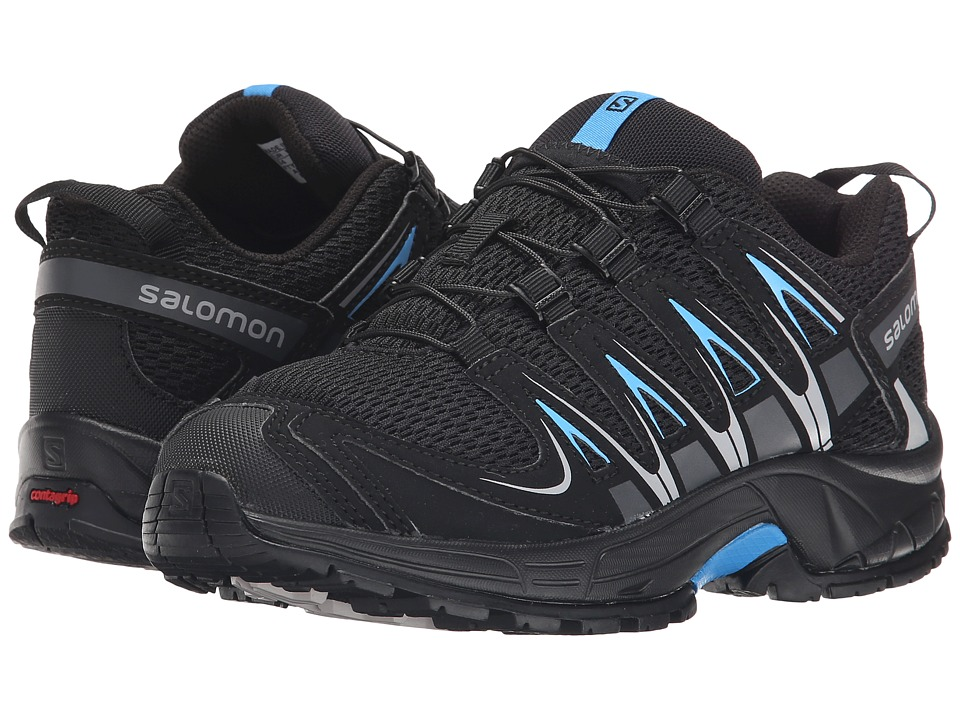 Salomon Kids - Xa Pro 3D (Little Kid/Big Kid) (Black/Black/Freedom Blue) Boys Shoes