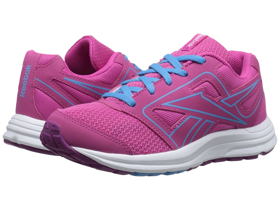 Reebok Kids - Zone Cushrun (Little Kid/Big Kid) (Charged Pink/Fierce Fuchsia/California Blue) Girls Shoes