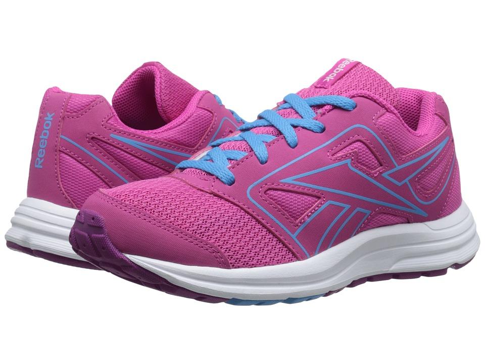 Reebok Kids - Zone Cushrun (Little Kid/Big Kid) (Charged Pink/Fierce Fuchsia/California Blue) Girls Shoes