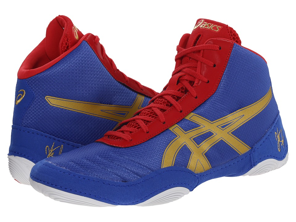 c44db5a6e0cc UPC 887749923216 - ASICS - JB Elite V2.0 (Jet Blue Oly Gold Red ...