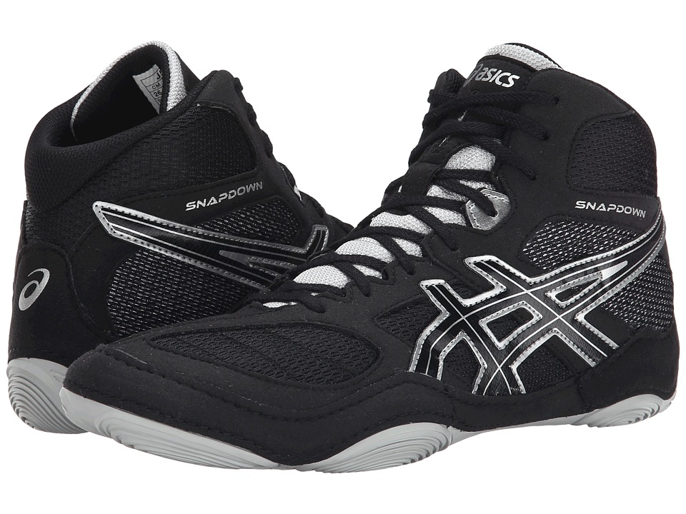 ASICS - Snapdown (Black/Silver) Men's Wrestling Shoes